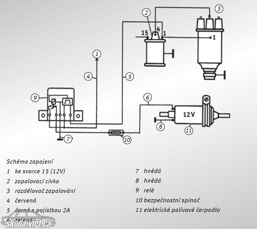 схема подключения электробензонасос на карбюратор славута