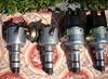 Úpravy rozdělovačů, odladění motoru: Poslané rozdělovače v špatném stavu, vpravo nové upravené pro vačky nad 300st.